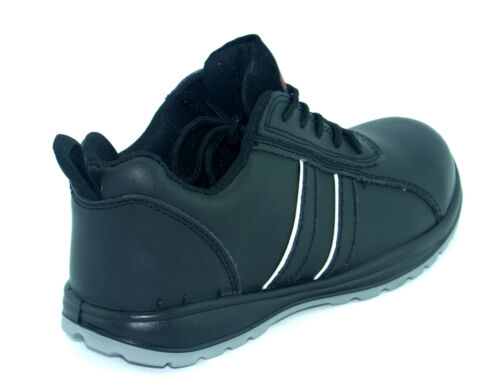 MENS CORONA BLACK LEATHER SAFETY STEEL TOE CAPS WORK BOOTS SHOES TRAINERS