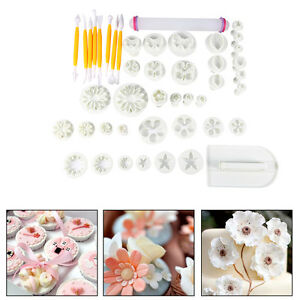 46-Stk-Fondant-Ausstechformen-Set-Stecher-Kuchenwerkzeug-Blumen-Tortendeko-HOT