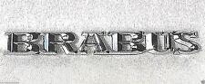 Emblem silver chrome metal BRABUS Decal Sticker badge (fits: Mercedes )
