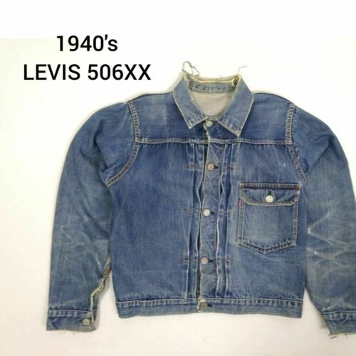 Vintage 1940's LEVIS 506XX 1st Denim Jacket Big E