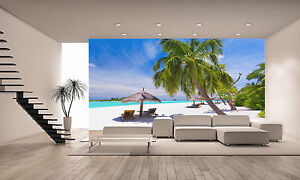 Image Is Loading Tropical Palm Beach Wall Mural Photo Wallpaper Giant