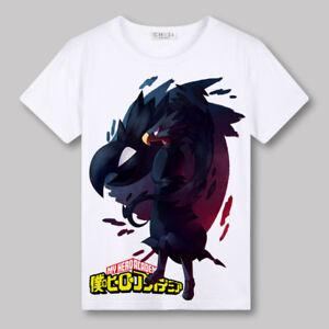 White-Unisex-Anime-My-Hero-Academia-Casual-Short-Sleeve-T-Shirt-Tee-Tops-UN30