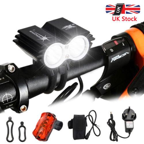 20000LM X3 T6 LED Bike Bicycle MTB Cycling Headlight Lamp Rear Tail Flash Lights