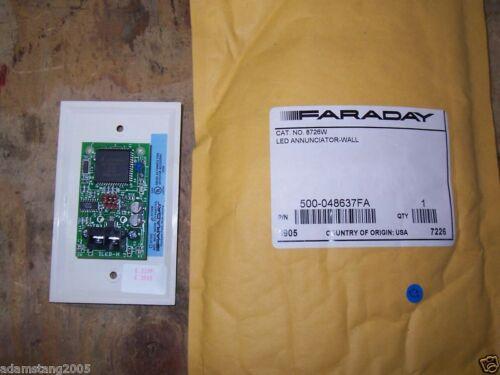 NEW FARADAY 500-048637FA 8726W LED ANNUNCIATOR WALL