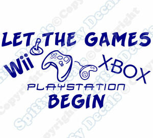 Let The Games Begin Xbox Playstation Nintendo Quote Vinyl Wall Decal
