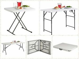 2.5Ft/4Ft/6Ft Garden Foldable Trestle Outdoor Beach Parties Picnic Camping Table