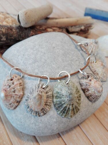 6 Natural Sea Shell Charms Pendentifs Plage Marin Côtier Boho Bijoux Craft