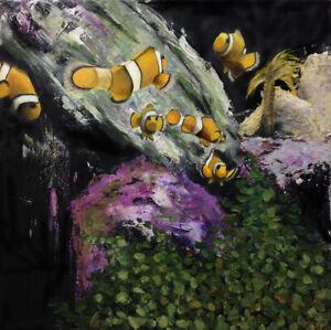 Lamina-Giclee-original-edicion-limitada-del-cuadro-Clownfish-Pez-pallaso