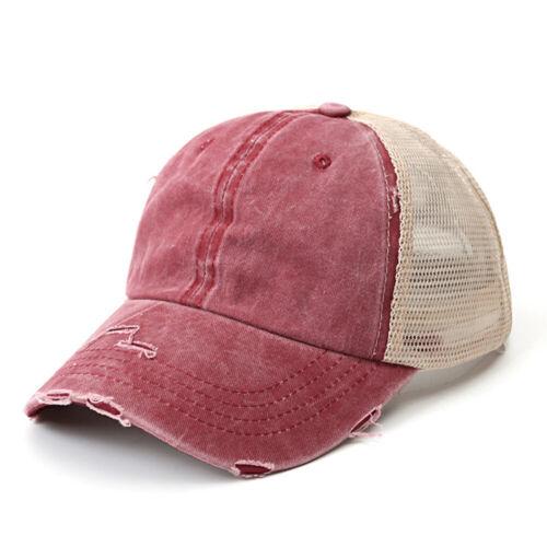 Unisex Men Women Vintage Baseball Cap Washed Old Style Mesh Soft Hat Retro Hats