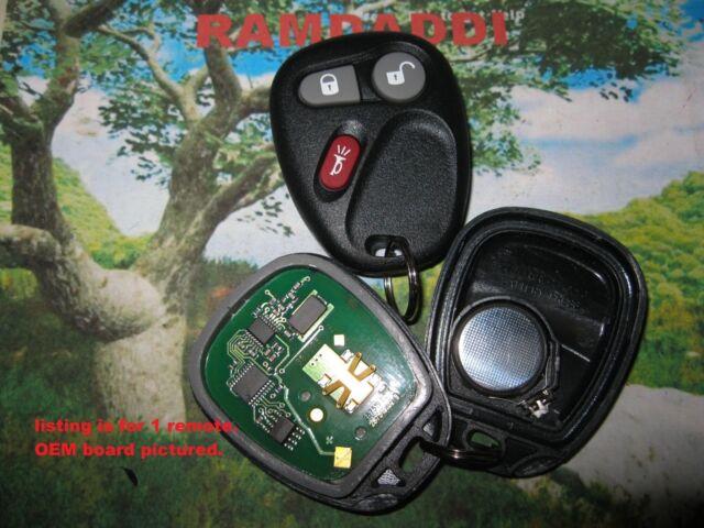 Replacement Remote Key Fob Shell Pad Case for Rainier Trailblazer Envoy Bravada