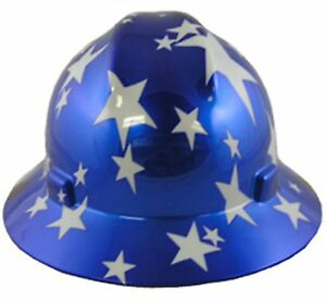 MSA-American-Pride-Full-Brim-Hard-Hats-3-Styles-Ratchet-Suspension-034-MADE-in-USA-034