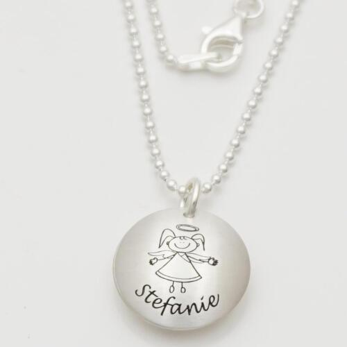 Taufschmuck mit Gravur Taufkette für Mädchen Namenskette Kette zur Taufe