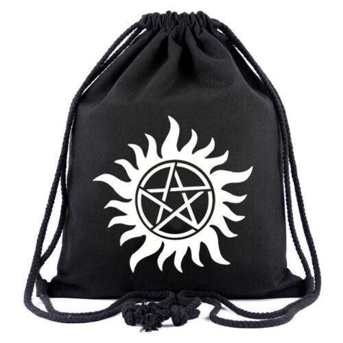 Supernatural Pentagramme Symbole Sac Winchesters Star décontractée avec cordon de serrage sac à dos