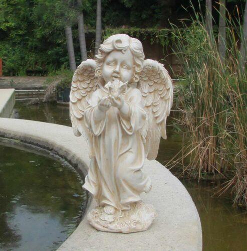 Gartenfigur 34 cm Hoch Engel Gartendeko Engelsfigur Grabdeko Figur Engels 16028A
