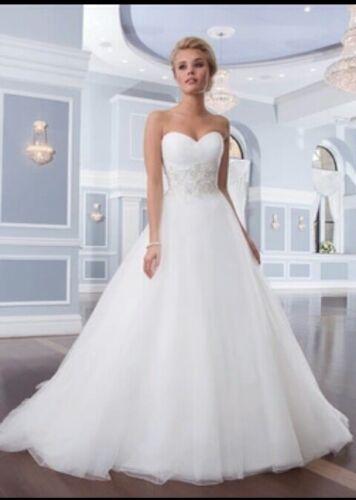 UK Plus Size White//Ivory Strapless Sweetheart A Line Wedding Dresses Size 6-26