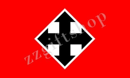 Hungary hungarist mouvement Drapeau Croix fléchées Fête 5X3FT 6X4FT Polyester Bannière