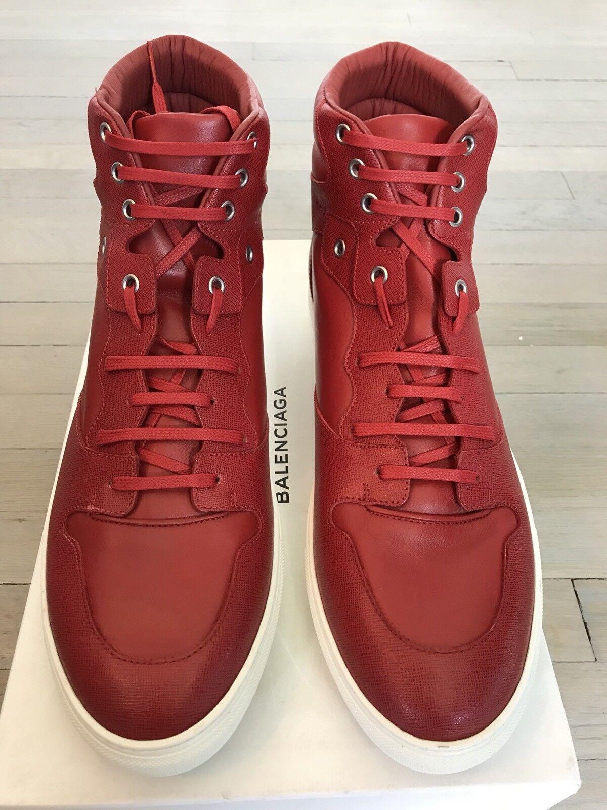 700  Balenciaga Red Pelle High Tops EU  size   13, EU Tops 46 99f0bc