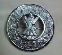 Highland Kilt Fly Plaid Brooch St Andrew Silver Finish 3/celtic Brooch Pins