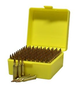 Image is loading NEW-Plastic-Rifle-Ammunition-Box-100-Round-204-  sc 1 st  eBay & NEW Plastic Rifle Ammunition Box - 100 Round - 204 222 223 22H ...