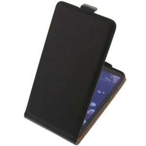 Sac-Pour-HTC-U11-Flipstyle-Etui-Cellulaire-Etui-Coquille-Flip-Coque-Noir