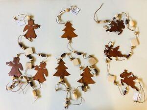 Weihnachtsmobile-Holz-Metall-Rost-Girlande-Weihnachten-Elch-Engel-Tannenbaum