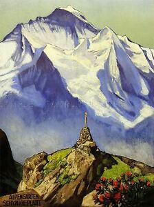 PAINTINGS LANDSCAPE ALPINE SCENE MOUNTAIN SCHYNIGE PLATTE SWITZERLAND LV3181