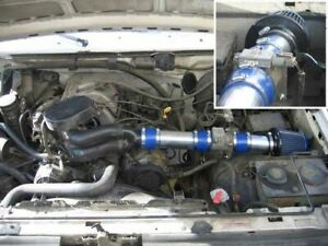Blue For 1994-1996 Ford F-150 Bronco 5.0L 5.8L V8 Air Intake System Kit Filter