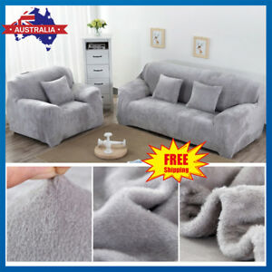 Tremendous Easy Fit Velvet Stretch Couch Sofa Lounge Covers Recliner Unemploymentrelief Wooden Chair Designs For Living Room Unemploymentrelieforg