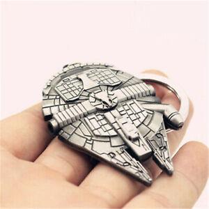Fashion-Silver-Star-Wars-Millennium-Falcon-Metal-Key-Ring-Keyring-Keychain-Gift