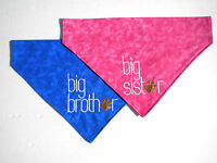 Big Brother Or Big Sister Embroidered Slide On Dog Bandana