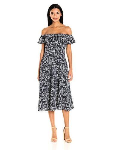 Pick SZ//Color. Betsey Johnson Dresses Womens Pebble Dot Off the Shoulder Tea