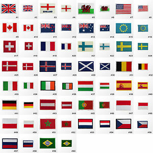 2900R-Small-Tiny-Nation-Country-Flag-Embroidered-Sew-Iron-on-Patch-Badge-Hotfix