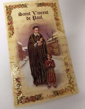 Saint Vincent de Paul Biography & Prayer Folder, New