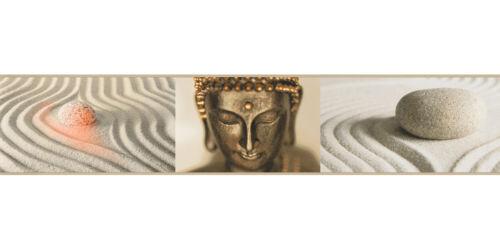 19,38£//1qm Wallpaper Border self-adhesive Buddha gold cream 9057-10