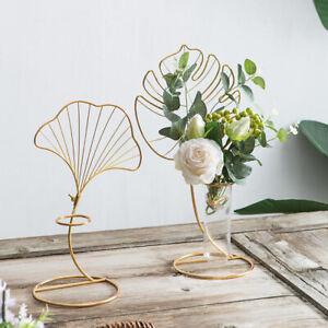 Art Vase Blätter Stand Blumentöpfe Hydroponische Pflanze Glas Pflanzer