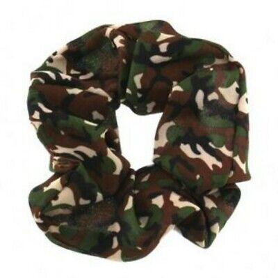 Black and White Polka Dot 4cm Large Hair Band Scrunchie Ponytail Brand New
