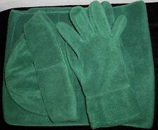 Nilton 3 teiliges Fleece Set Schal Mütze Handschuhe grün weich & warm  NEU