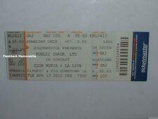 PUBLIC IMAGE LTD Concert Ticket CLUB NOKIA LA 2010 Sex Pistols JOHNNY ROTTEN PiL
