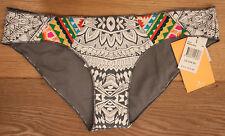 NEW Women's RIP CURL MAYAN SUN HIPSTER Bikini Bottoms - White Multicolor - SMALL
