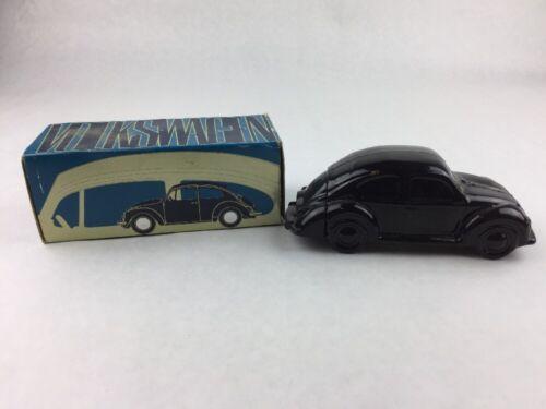 Avon Volkswagen Beetle Glass Car Shaped Bottle Spicy Cologne Original Box 4 oz