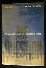 THE QUESTION by  Henri Alleg  ~ 1958  1st/1st  HC/DJ ~ Intro by Jean Paul Sartre