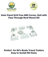 Rv Solar Panel Drill Free Abs Corner Set, Rail Set, Pass Through Support Kit