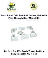 Rv Solar Panel Drill Free Abs Corner Set, Rail Set, Pass Through Support Kit