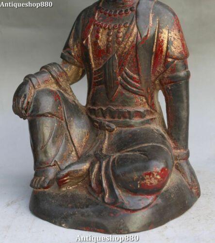 Old China Bronze Buddhism Seat Kwan-yin Kuan-yin Guanyin Quan Yin Goddess Statue