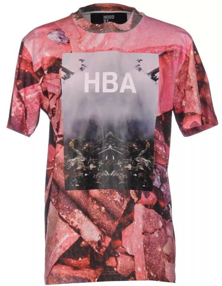 BRAND NEW WITH TAGS HBA HOOD BY AIR 'OVERCOME' T-SHIRT MEN'S XL