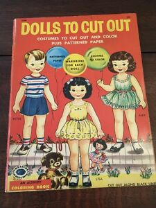 Vintage 1957 5 DOLLS TO CUT OUT Judy Stang Paperdolls Paper 5 Dolls Cutouts MINT