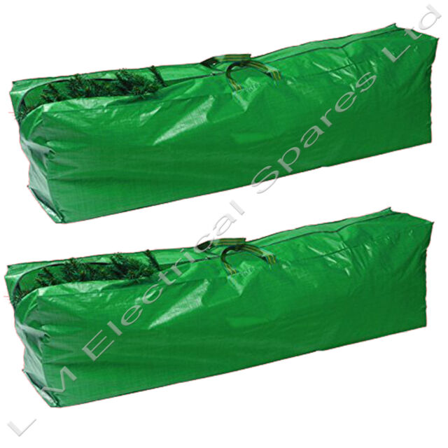 2 x Strong Christmas Tree Bag Zip Up Sack Storage - Up to 9ft Tall Xmas Trees