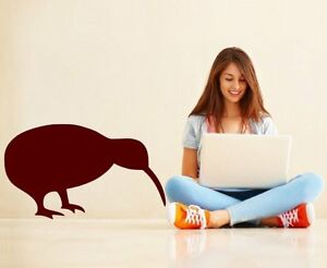 Kiwi Bird Wall Sticker Vinyl Decal Cute Animal Decor Genuine Broomsticker Art
