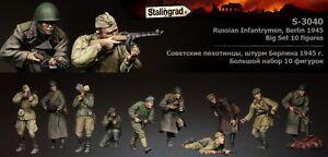 Infanterie russe de Stalingrad en action Berlin Big Set (10 figurines) 1/35 Kit en résine