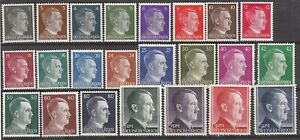 Stamp-Germany-Mi-781-802-Sc-506-27-1941-WWII-3rd-Reich-Hitler-Head-Set-MNG